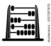abacus icon   school symbol | Shutterstock .eps vector #1057397870