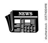 vector newspaper icon | Shutterstock .eps vector #1057400498