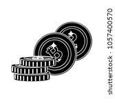 bit coin icon | Shutterstock .eps vector #1057400570