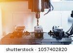 metalworking cnc milling... | Shutterstock . vector #1057402820