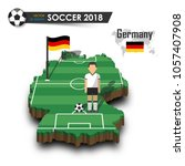 germany national soccer team .... | Shutterstock .eps vector #1057407908