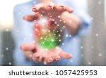 network concept between hands... | Shutterstock . vector #1057425953