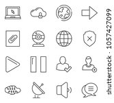 thin line icon set   web camera ... | Shutterstock .eps vector #1057427099