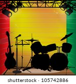 reggae stage background with...