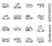thin line icon set   home... | Shutterstock .eps vector #1057429373