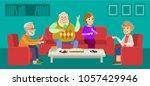 happy seniors couple enjoying... | Shutterstock .eps vector #1057429946