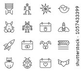 thin line icon set   rocket... | Shutterstock .eps vector #1057433399