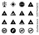 solid vector icon set   road...   Shutterstock .eps vector #1057443653
