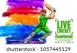 illustration of batsman playing ...   Shutterstock .eps vector #1057445129