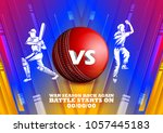 illustration of batsman and... | Shutterstock .eps vector #1057445183