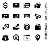 solid vector icon set   dollar... | Shutterstock .eps vector #1057449590