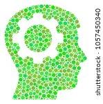 intellect gear mosaic of filled ... | Shutterstock . vector #1057450340