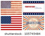 american set. 2 types of flags... | Shutterstock .eps vector #105745484