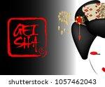 geisha portrait of japanese or...