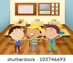 illustration of a kids holding... | Shutterstock .eps vector #105746693