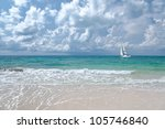 the yacht and the sea | Shutterstock . vector #105746840