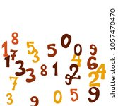 falling colorful numbers on... | Shutterstock .eps vector #1057470470