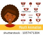 phoneme mouth shapes collection ... | Shutterstock .eps vector #1057471304