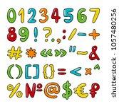 vector hand drawn set of... | Shutterstock .eps vector #1057480256