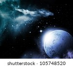 universe with planet and stars | Shutterstock . vector #105748520