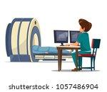 vector cartoon computer... | Shutterstock .eps vector #1057486904