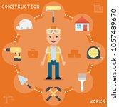 construction works design...   Shutterstock .eps vector #1057489670