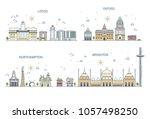 business city in england.... | Shutterstock .eps vector #1057498250