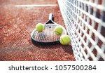tennis game. tennis ball with... | Shutterstock . vector #1057500284