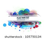 grunge banner backgrounds with... | Shutterstock .eps vector #105750134
