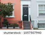 Small photo of London, UK - March 11, 2018: Facades of typical colorful terraced houses in Notting Hill