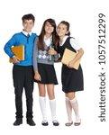 Three Schoolchildren With...