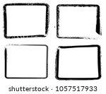 grunge frame texture set  ... | Shutterstock .eps vector #1057517933