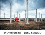 truck carrying and transporting ... | Shutterstock . vector #1057520030