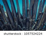 warrior  iron throne made with... | Shutterstock . vector #1057524224