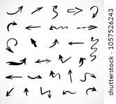 hand drawn arrows  vector set | Shutterstock .eps vector #1057526243