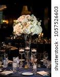 wedding set up. decoration for...   Shutterstock . vector #1057526603