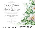 wedding invite save the date... | Shutterstock .eps vector #1057527230
