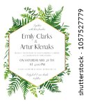 wedding floral invitation ... | Shutterstock .eps vector #1057527779