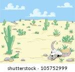 a desert  landscape with...   Shutterstock . vector #105752999