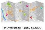 map city art | Shutterstock .eps vector #1057532000
