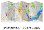 map city providence | Shutterstock .eps vector #1057532009