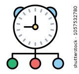 line icon managing tasks  time... | Shutterstock .eps vector #1057532780