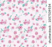 seamless gorgeous pattern in... | Shutterstock . vector #1057539554