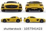 set mercedes benz sls yellow....   Shutterstock . vector #1057541423