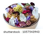 crystals and moss with dried... | Shutterstock . vector #1057543943