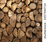 firewood for the winter  stacks ... | Shutterstock . vector #1057544714