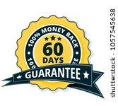 60 days money back illustration | Shutterstock .eps vector #1057545638