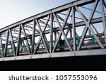 metal structure bridge paris... | Shutterstock . vector #1057553096