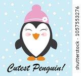 cute penguin  vector design | Shutterstock .eps vector #1057553276