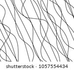 Line abstract seamless pattern with hand drawn lines. wavy striped vector illustration | Shutterstock vector #1057554434